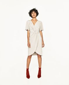 ZARA - WOMAN - DRESS WITH FRONT KNOT