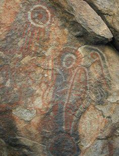 Prehistoric rock art panel. Mojave desert. DSMc.2010