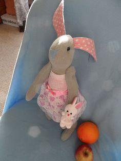 Softie Plush toy funny bunny rabbit tilda dol by FunnyBunny345