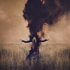"liquidnight: "" Today on Haute Macabre I write about the breathtakingly expressive and visionary work photographer Brooke Shaden: ""Brooke Shaden: Visceral Visual Narratives "" "" Dark Fantasy, Fantasy Art, Arte Obscura, Ange Demon, Dark Photography, Macabre Photography, Smoke Bomb Photography, Halloween Photography, Witch Aesthetic"