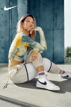 The latest Blazer Mid '77 Vintage colors are available on Nike.com. Shop 'em now. Cute Casual Outfits, Summer Outfits, Sitting Poses, Teen Fashion Outfits, Trendy Fashion, Gyaru, Nike, Aesthetic Clothes, Outfit Of The Day