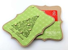 Stampin' Up!  Top Note Die  Gift Card Holder