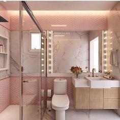 """: """"Aquele banheiro camarim que é puro charme by @marilia.arq…"""""""