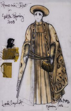 Romeo and Juliet (Lord Capulet). Costume design by David Murin. Romeo And Juliet Clothing, Romeo And Juliet Costumes, Costume Design Sketch, 17th Century Art, Theatre Costumes, Beautiful Costumes, Historical Costume, Ballet, Character Design