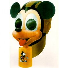 The Sun Rubber Company produced approximately 1,000 Mickey Mouse gas masks and earned an Army-Navy 'E' for excellence in wartime production in 1944. Overall, production of the Noncombatant Gas Masks (and in fact, all gas masks) was one of the most successful production programs of the war. Thankfully, no chemical attacks occurred in the United States. Mickey Mouse Gas Masks were distributed to senior officials and others during the war as keepsakes.