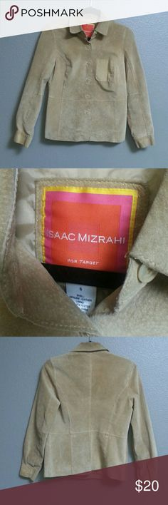 Isaac Mizrahi Suede Leather Blazer/Jacket Beautiful Classic Soft Suede Jacket Flattering Fit. Gently used condition(see pictures) Size small Isaac Mizrahi Jackets & Coats Blazers