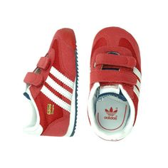 kids red adidas trainers