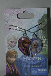 Amazon.com: New Disney Frozen Sisters 2 piece Necklace Elsa & Anna. One half for each sister.