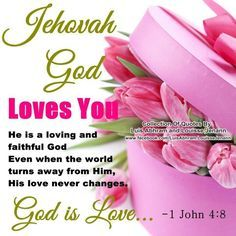 Jehovah god loves you! A sister from Peru gave this to me and my wife, so we are sharing, enjoy! How He Loves Us, God Loves You, Jesus Loves, Little Bit, Bible Knowledge, Bible Truth, Jehovah's Witnesses, Love Yourself Quotes, Set You Free