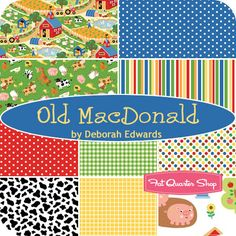 Maybe for James? It is bright and colorful. Old MacDonald Yardage Deborah Edwards for Northcott Fabrics