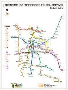 Mapa del Metro - TuriGuide México