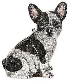 Judith Leiber Couture Fred French Bulldog Crystal Clutch Bag, Silver   https://api.shopstyle.com/action/apiVisitRetailer?id=533250499&pid=uid2500-37484350-28