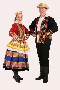 Strój krzczonowski Folk Costume, Costume Dress, Costumes, Polish People, Polish Folk Art, Arte Popular, Historical Clothing, Traditional Outfits, Culture
