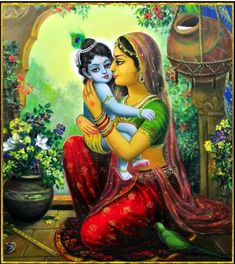 "🌺 YASHOMATI NANDANA KRISHNA 🌺 The beloved son of mother Yashoda ""Lord Krishna is very happy & always the well-wisher of His devotees. He is all-auspicious & He is submissive to love. Krishna Lila, Little Krishna, Jai Shree Krishna, Lord Krishna Images, Radha Krishna Pictures, Radha Krishna Love, Krishna Radha, Radha Krishna Paintings, Radha Rani"