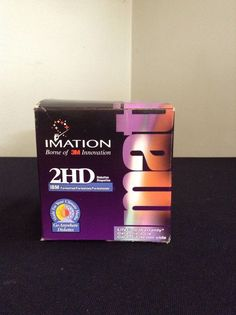 NIB Imation Diskettes 25 Pack Ibm Formatted 2 Hd Floppy Disks 1.44 Mb Computer #Imation