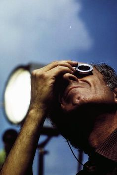 Director Michelangelo Antonioni during the filming of Zabriskie Point