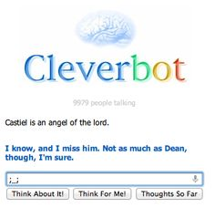 Even Cleverbot knows that Destiel is secretly canon. :)