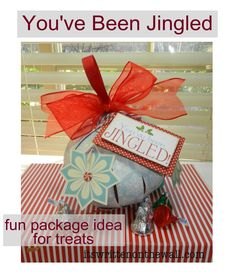 (freebie) Cute way to package Treats for Christmas Neighbor Gifts (paper ornament) + You've Been Jingled Free Printable & Tags