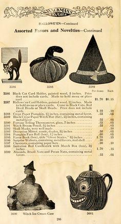 1911 Catalog Page - Halloween Favors courtesy of Vintage Ephemera