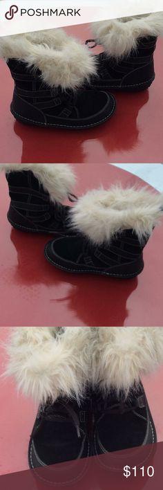 Sorel black suede boots in excellent condition Sorel black suede boots in excellent condition size 7.5.  12/17/17 Sorel Shoes Winter & Rain Boots