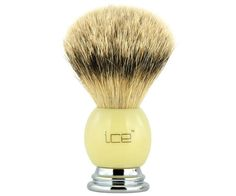 The Ice Chrome and Ivory Best Badger brush. All badger, but a higher bristle count using the softest, finest badger hair. A dense brush that produces a thick lather. Available at House of Knives. Shaving Brush, Wet Shaving, Best Shave, Brushes, Knives, Chrome, Ivory, Ice