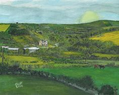 This painting is a landscape of a farm in County Kerry Ireland. cliff-wilson.pixels.com