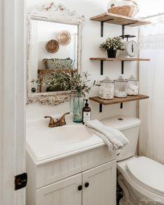 chic boho bathroom design ideas for the home. - Jule Neveling - chic boho bathroom design ideas for the home. chic boho bathroom design ideas for the home. Small Bathroom Shelves, Bathroom Design Small, Bathroom Cabinets, Bathroom Vanities, Bathroom Fixtures, Bathroom Layout, Bathroom Colors, Mirror Bathroom, Shiplap Bathroom
