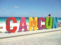 Letrero de Cancún en Playa Delfines. Subtle Worlds  by Diana Westrup.