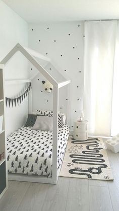 Habitación infantil en blanco y negro | Deco&Kids #decoración - #decoracion #homedecor #muebles