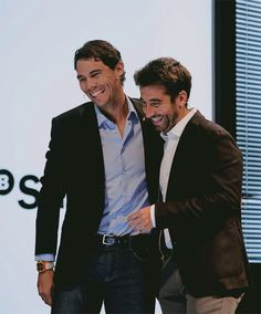 Rafael Nadal and Marc Lopez at the Banco Sabadell event in Malaga