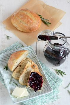 This jam is thick and rich, and perfect with fresh rosemary bread.  Or with homemade roasted peanut butter, it makes a wonderful grown-up PB&J.