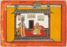 A Nayika and Her Lover, folio from a Rasamanjari series, Indian, Kashmir, c. 1660-70, Harvard Art Museums/Arthur M. Sackler Museum.
