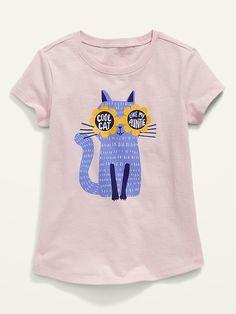 Girls Tees, Shirts For Girls, Kids Shirts, Toddler Girl Shorts, Old Navy Toddler Girl, Shop Old Navy, Old Navy Shorts, Tee Design, Cool Kids