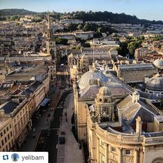 Check out this fab shot of the city taken from the top of Bath Abbey by @yelibam ! #visitbath #cityofbath #bathuk #England #bathabbey #view #travel #tourism #instatravel #travelgram #livegreatbritain #cityscape