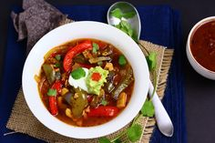 Fajita soup...I need to remember to make more soup next winter.