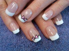 bowtie french by aliciarock - Nail Art Gallery nailartgallery.nailsmag.com by Nails Magazine www.nailsmag.com #nailart