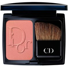 Dior Diorblush Vibrant Color Powder Blush ($43) ❤ liked on Polyvore featuring beauty products, makeup, cheek makeup, blush, beauty, faces, happy cherry, blush brush, christian dior and powder blush