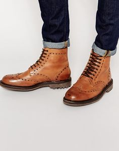 3190861490d Ben Sherman Brogue Boots at asos.com