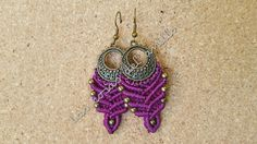 #macrame #earrings #purple