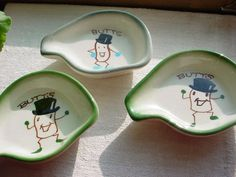 3 vintage novelty ashtrays Top Hat motif Seller florasgarden on ebay