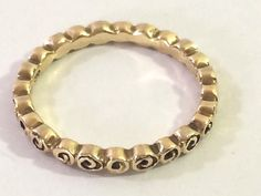 PANDORA 14k Gold Small Roses Band Ring 150102 SZ 7 /54 ROSE Pattern golden #Pandora #Band Small Rose, Pandora Charms, Fashion Rings, Band Rings, Roses, Bracelets, Pattern, Gold, Jewelry