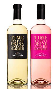 Wine Label Wedding Favors  Engagement Wine Favor  by StudioBLabels