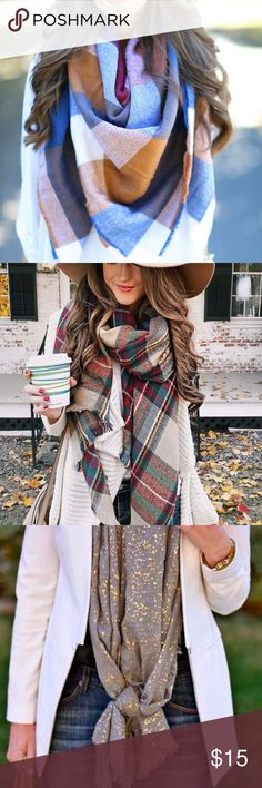 Mystery Scarf 1/$15, 2/$25, 3/$35 •• A great gift for a friend, or an excellent way to #TreatYoSelf. Scarves will be a surprise, but will be cute and trendy!   Check out my other listings for mystery items like vintage tees and flannels. Accessories Scarves & Wraps