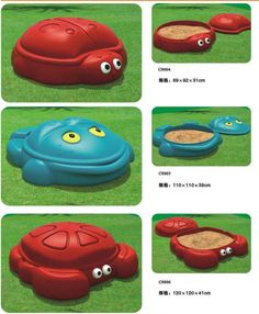 Lady beetle/crab/ frog Various sandpit with cover - from Alibaba.com