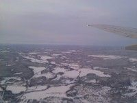 Aerial Finnland with city