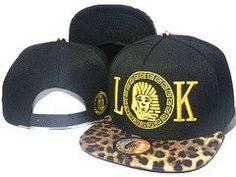 0334b72e36110 Mens Last Kings Tyga s LA Pharaoh LK Face Iconic Embroidery Faux Leopard  Print Visor Snapback Cap - Black   Gold