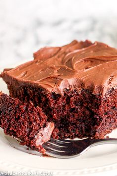Sour Cream Chocolate Cake Recipe with Sour Cream Frosting-The ultimate in moist chocolate cakes, this Sour Cream Chocolate Cake is a great take-along dessert for picnics and potlucks. Top with sour cream frosting for a delicious chocolate dessert. Chocolate Cake Recipe With Sour Cream, Sour Cream Cake Recipe From Scratch, Sour Cream Desserts, Sour Cream Frosting, Chocolate Cake From Scratch, Chocolate Cream, Single Layer Chocolate Cake Recipe, Recipes With Sour Cream, Sour Milk Recipes