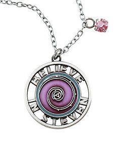 """<p>Display your faith in Steven with this awesome necklace. Reminiscent of Rose's shield it reminds everyone to believe in Steven.</p><ul><li>22"""" long</li><li>Alloy</li><li>Imported</li></ul>"""