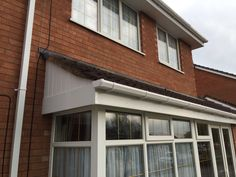 And white #upvcfascia #soffits and #guttering,#Frenchdoors,#patiodoors,#FasciaSoffitsguttering,#Cladding,#Conservatives, #Flatrubberroofs