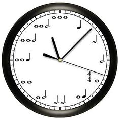 Music Lovers will adore this decorative Music Notes wall clock.  The hours are equivalent to the notes.